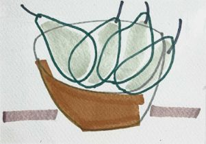 Jessica COOPER (1967)Pear for you, Pear for me Pen on paper Signed, inscribed and dated 2013 to