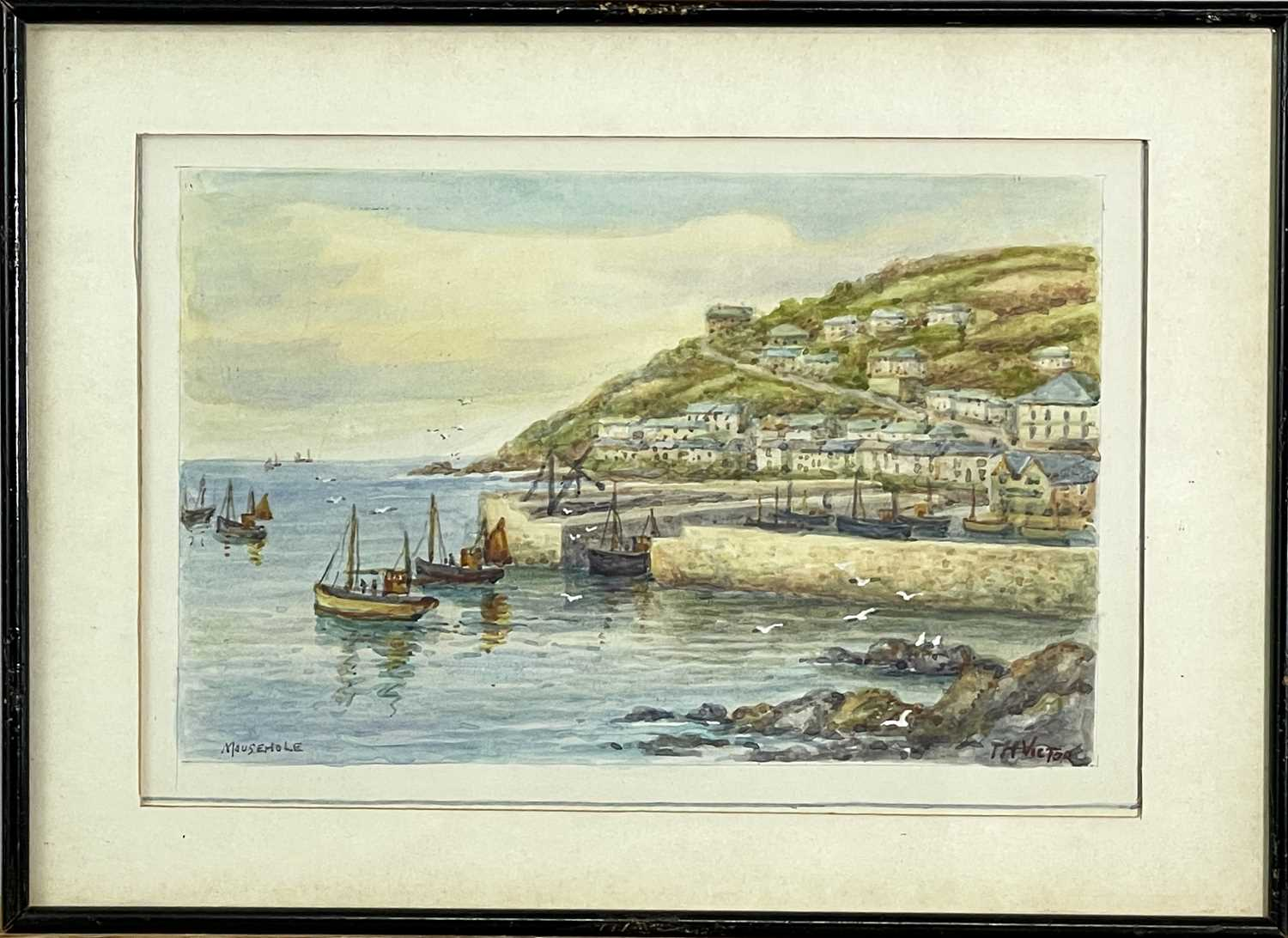Thomas Herbert VICTOR (1894-1980)Mousehole Two watercoloursEach signed and inscribed 27.5 x 17cm and - Image 5 of 6