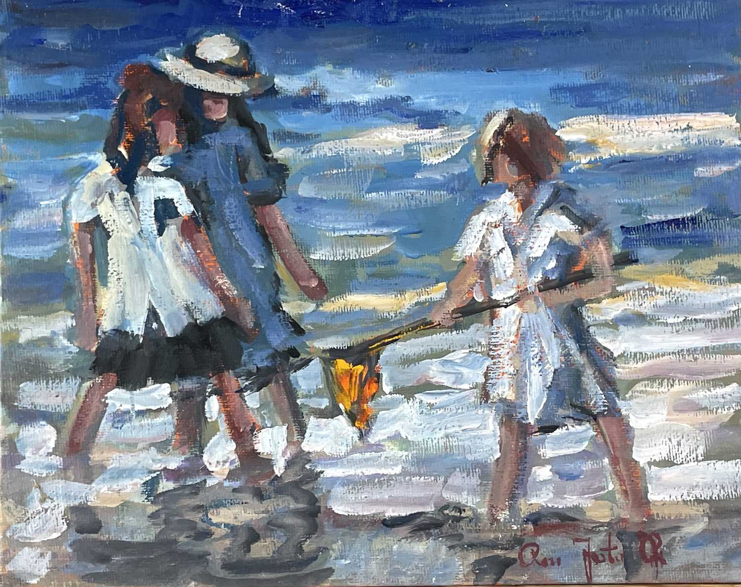 Ross FOSTER (XX-XXI)At the Beach Two oils on canvas Each signed 20.5 x 25.5cm23 x 30.5cm - Image 3 of 5