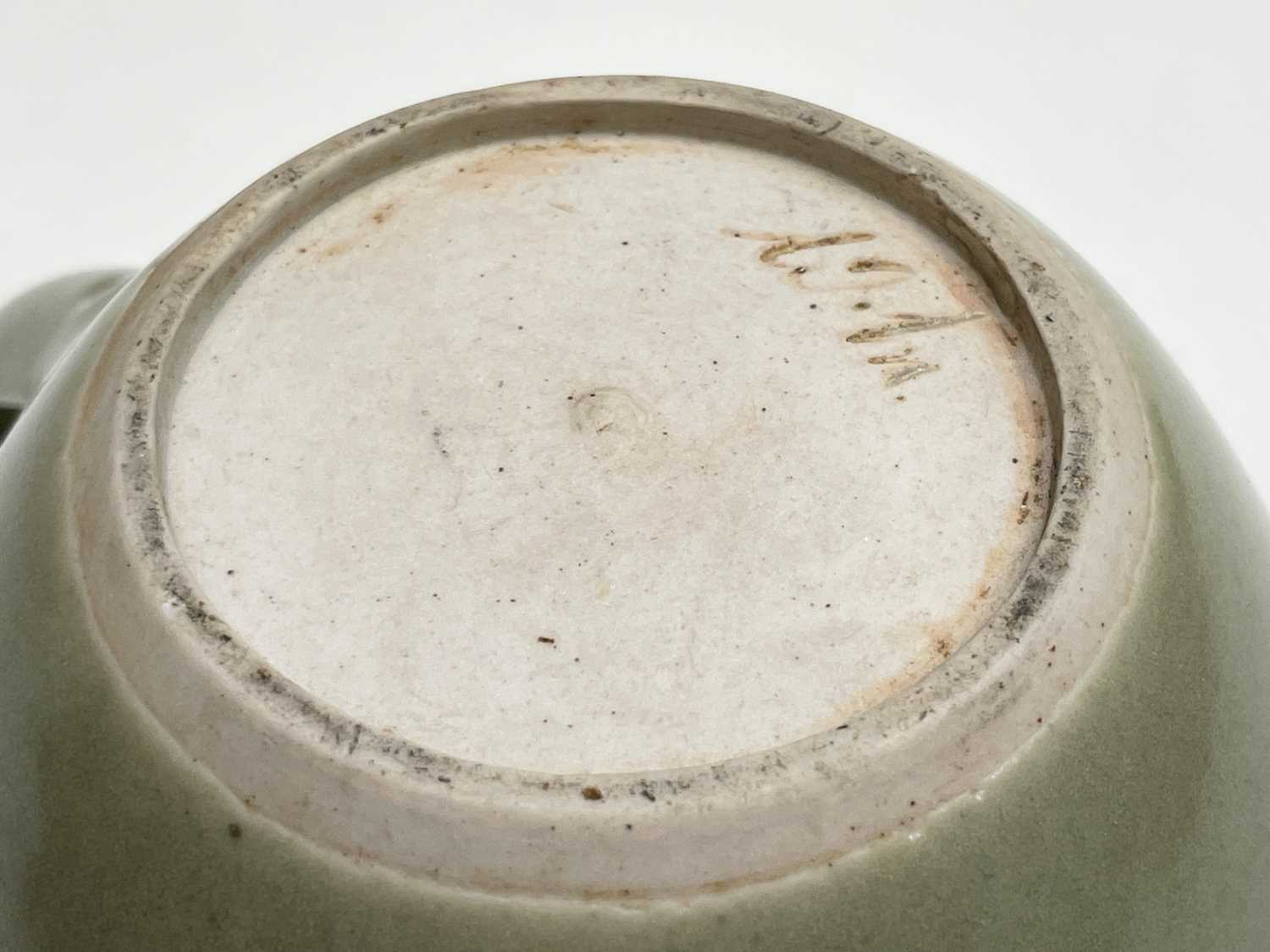 A Leach Pottery, St Ives, celadon glazed teapot, height 14cm, with impressed Leach seal and initials - Image 8 of 11