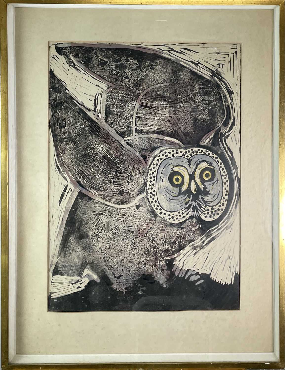 Contemporary British School Owl Lithograph 70x49cm sight size - Image 3 of 3