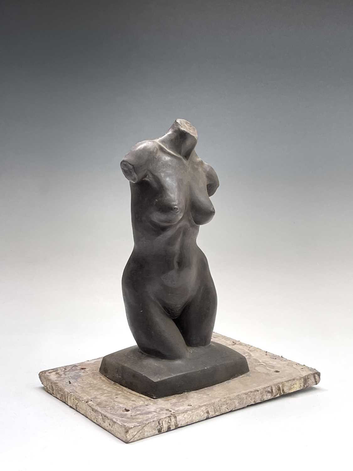 Alec WILES (1924)Female Torso Bronze resin sculpture Signed Height 30cm - Image 9 of 9