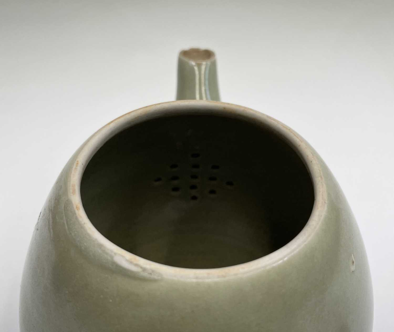 A Leach Pottery, St Ives, celadon glazed teapot, height 14cm, with impressed Leach seal and initials - Image 11 of 11