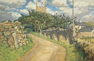 Carole PAGE (1955)Afternoon at Zennor Pastel Signed and dated 1995Inscribed to verso35 x 54cm