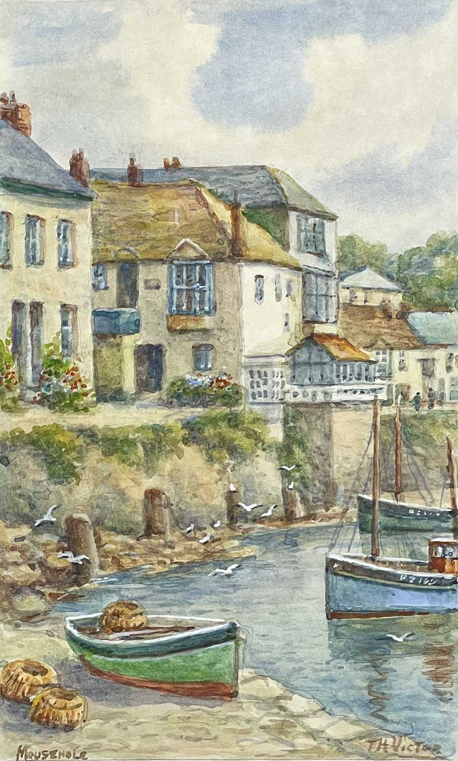 Thomas Herbert VICTOR (1894-1980)Mousehole Two watercoloursEach signed and inscribed 27.5 x 17cm and - Image 2 of 6