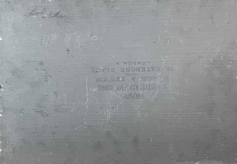 Albert STARLING (XIX-XX) Near Nanjizel, the fishing fleet in the distance Oil on board Signed - Image 2 of 2