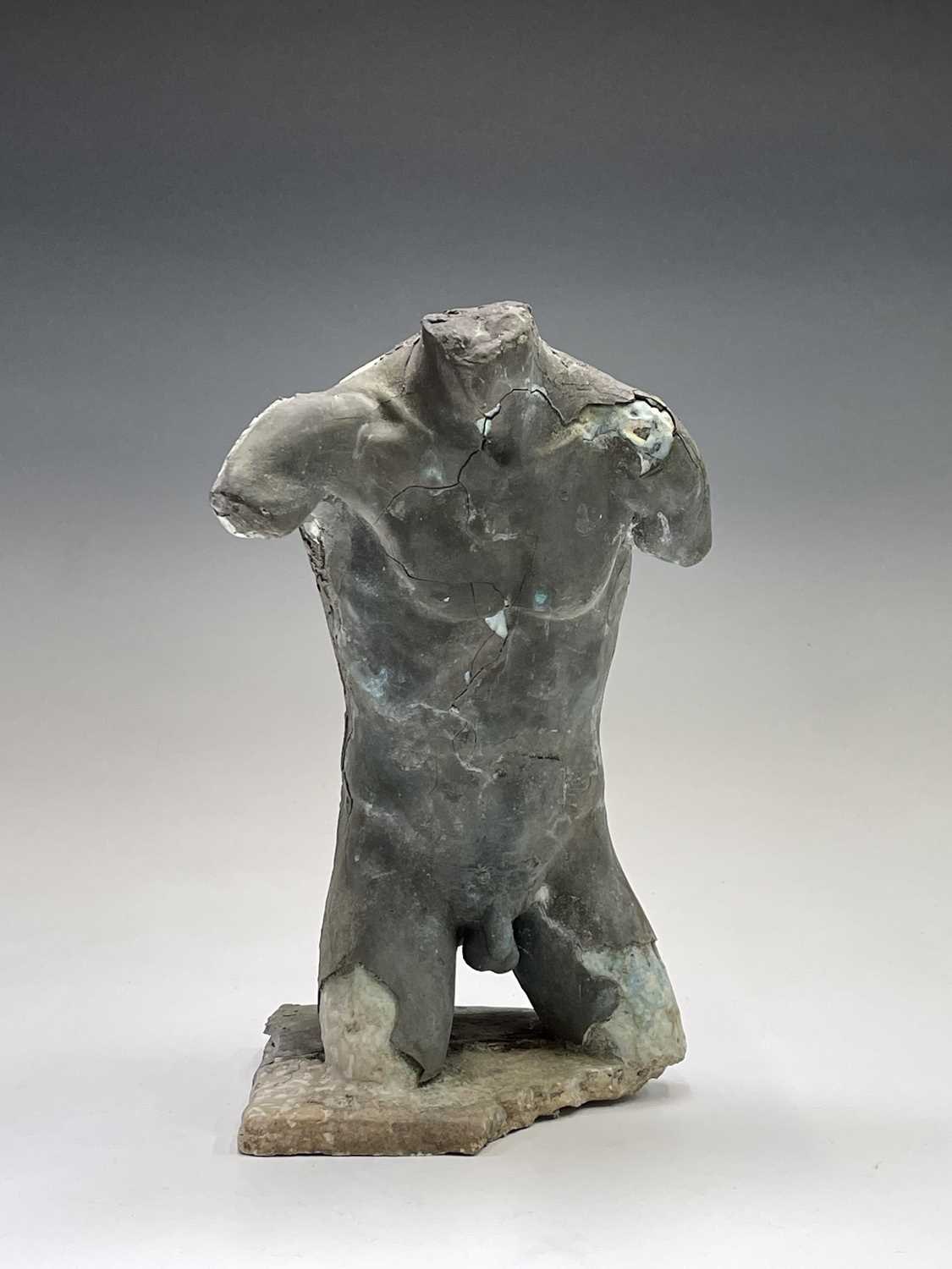 Alec WILES (1924)Males Torso Plaster and resin sculpture Signed Height 31cm - Image 13 of 13