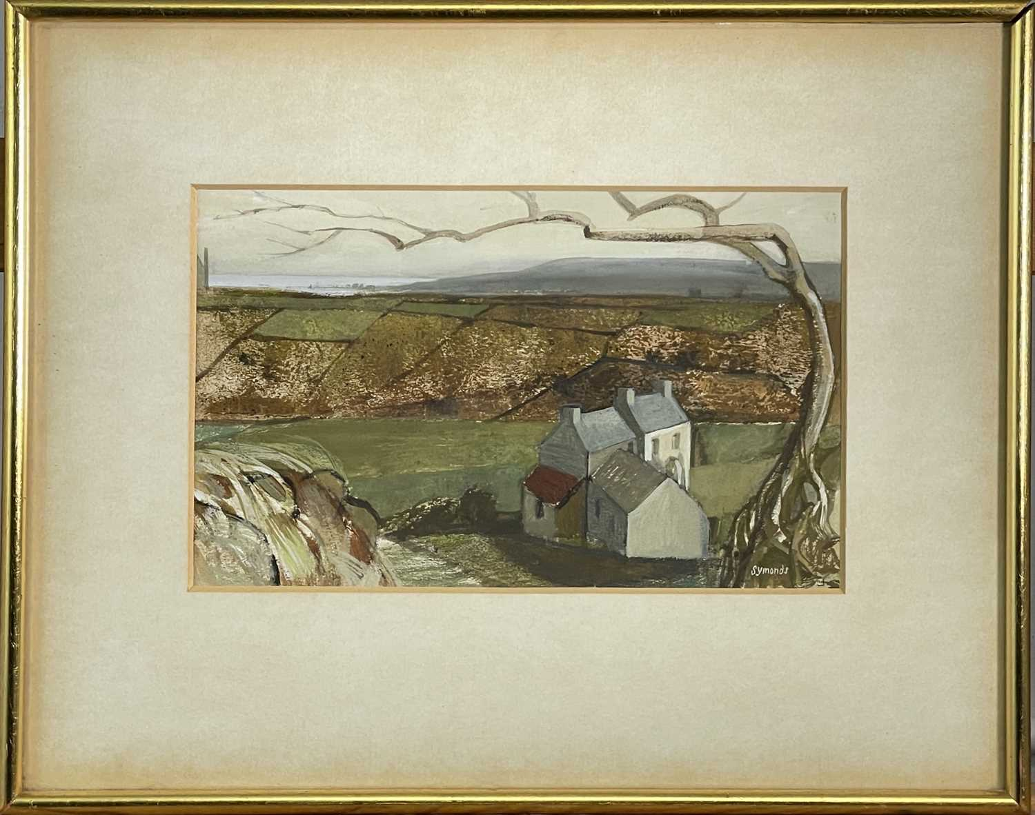 Ken SYMONDS (1927-2010)Hilltop West Penwith Gouache Signed Further signed, inscribed and dated - Image 2 of 3