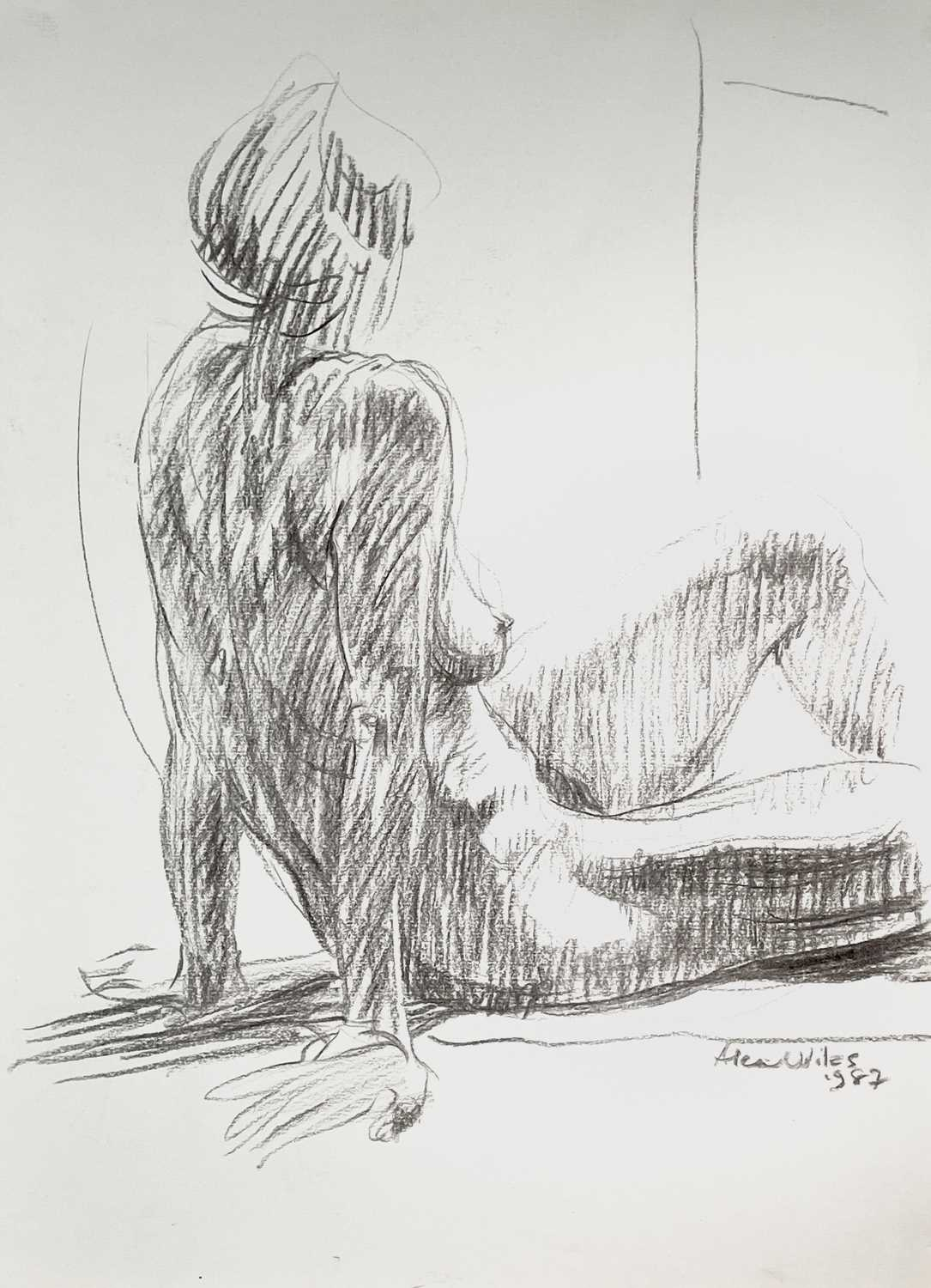 Alec WILES (1924) Nude drawings A collection of thirteen Mostly signed Mostly 60x42 Together with - Image 12 of 46