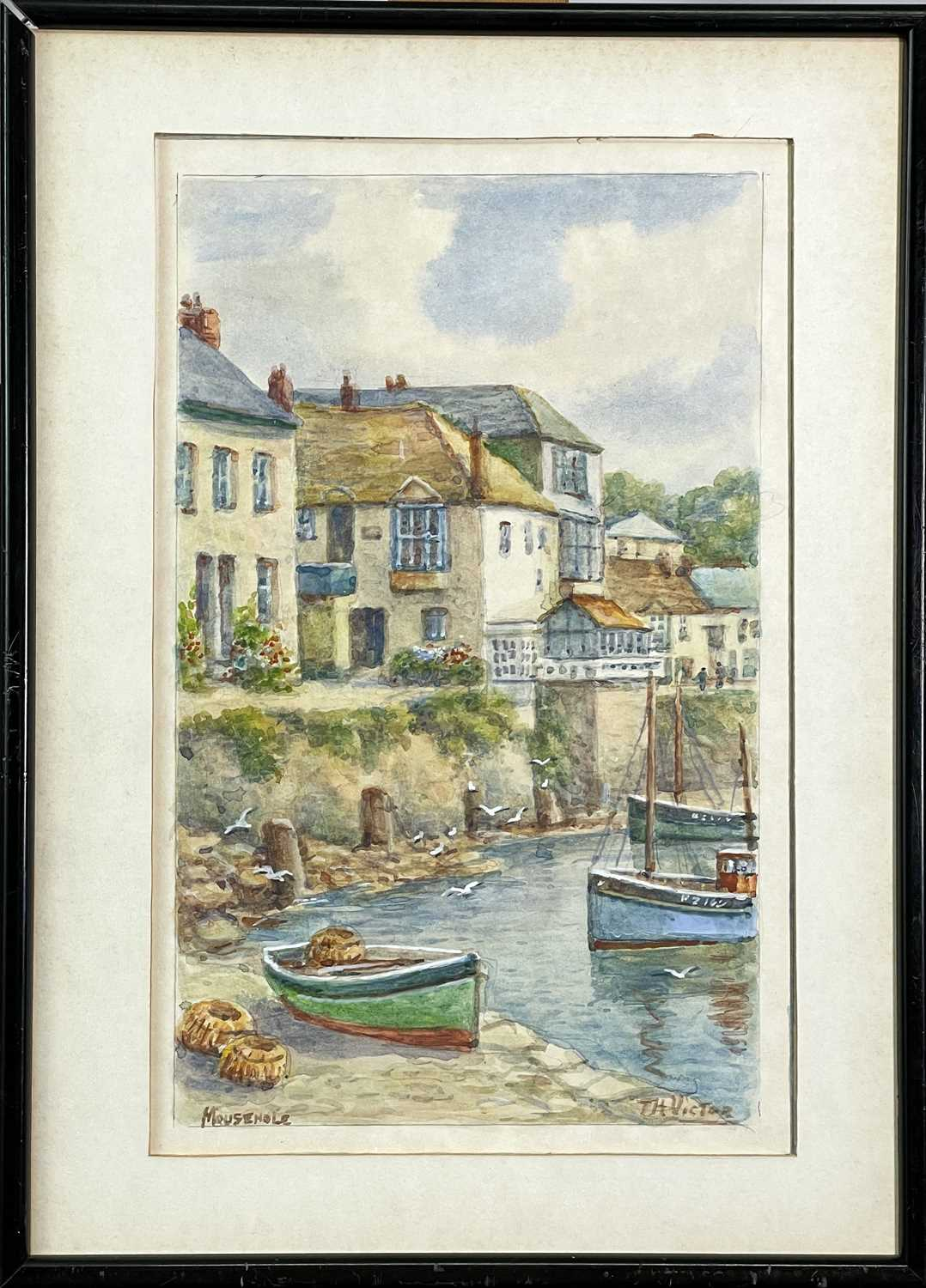 Thomas Herbert VICTOR (1894-1980)Mousehole Two watercoloursEach signed and inscribed 27.5 x 17cm and - Image 3 of 6