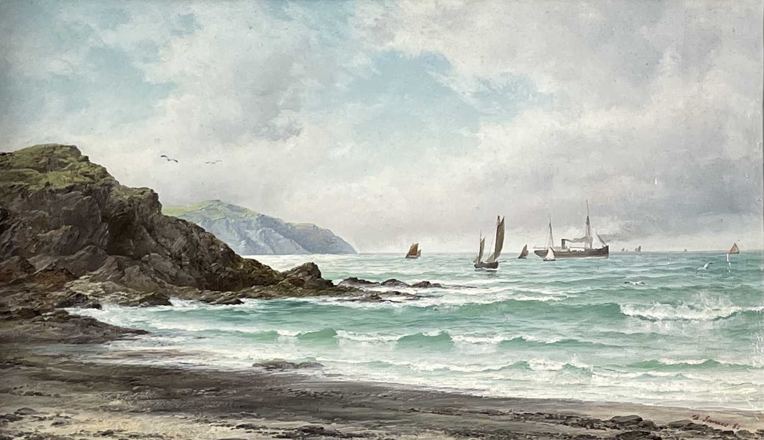 David JAMES (1853-1904)A South West Breeze, Coast of ScillyOil on canvas Signed and dated (18)