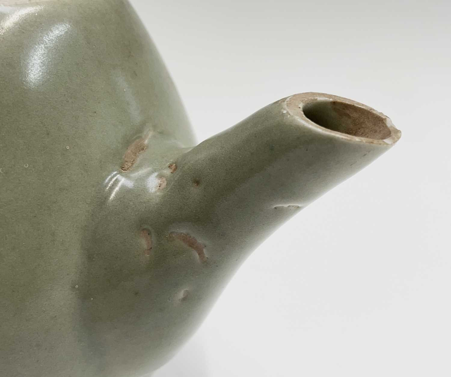 A Leach Pottery, St Ives, celadon glazed teapot, height 14cm, with impressed Leach seal and initials - Image 2 of 11