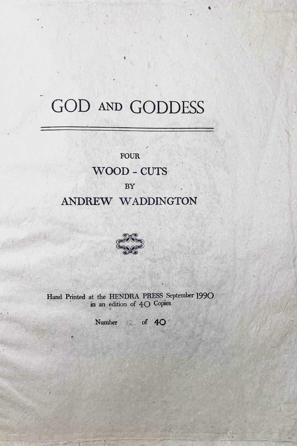 Andrew WADDINGTON God and Goddess A limited edition of four woodcuts 1990 Together in the Hendra - Image 6 of 9