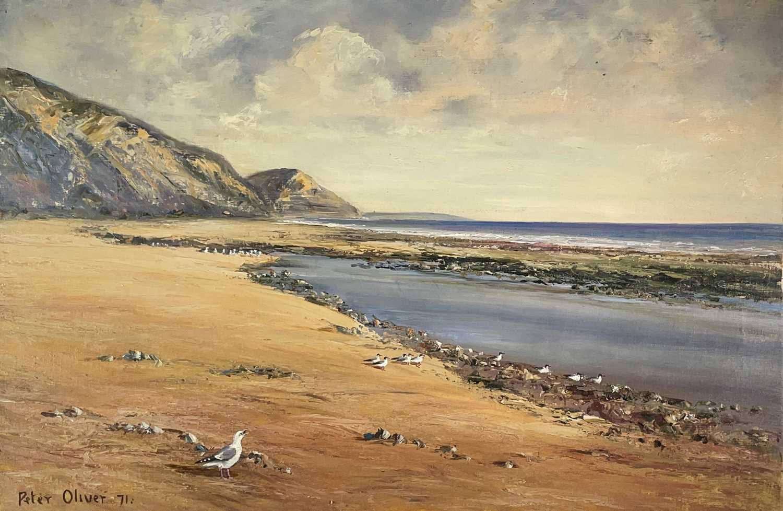 Peter OLIVER (1927) Low Tide Oil on canvas 50x76cm
