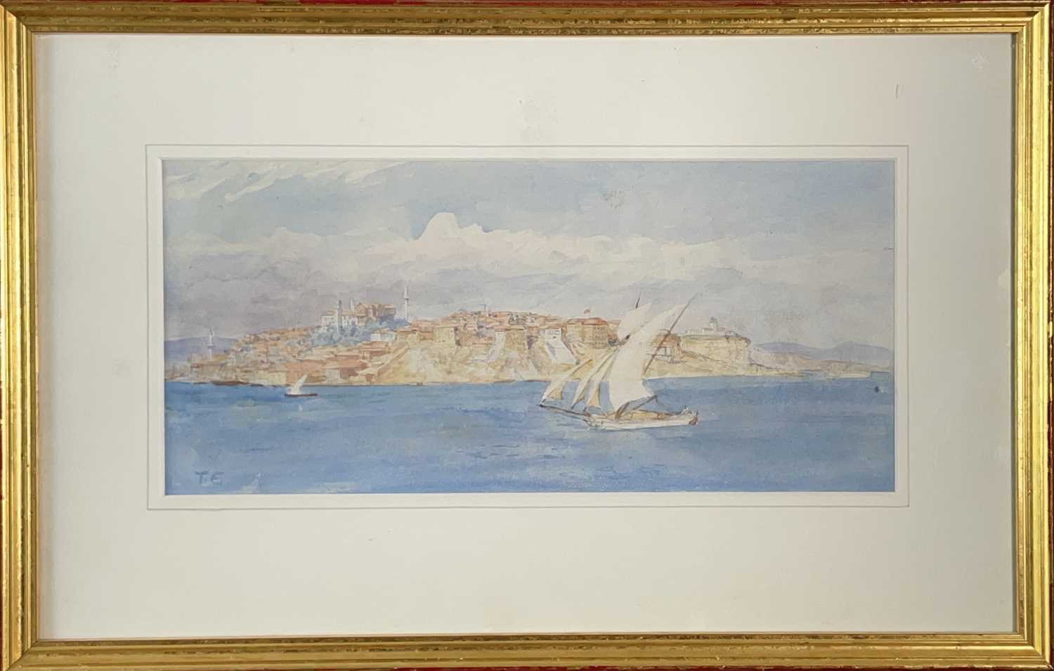 Tristram James ELLIS (1844-1922) Constantinople Signed with initials 17x37cm - Image 2 of 3