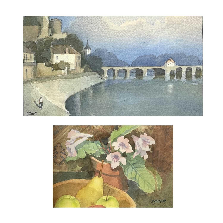 Ken SYMONDS (1927-2010)Pont d'Avignon, FranceWatercolourSigned 19 x 33cm&Still Life Watercolour