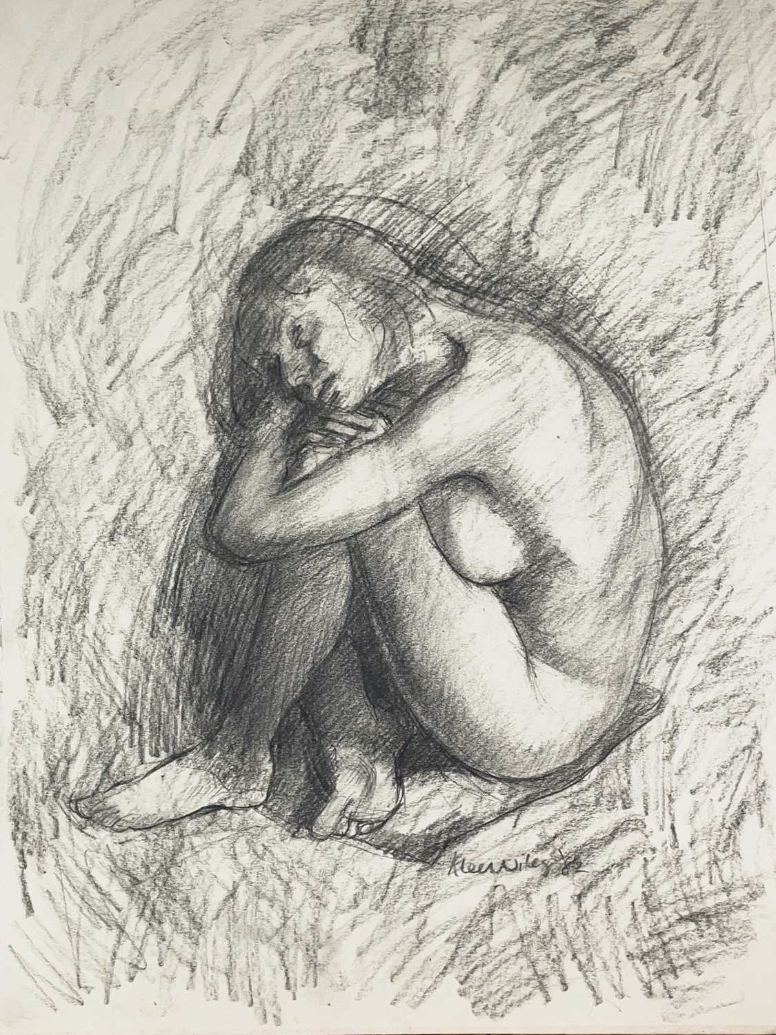 Alec WILES (1924) Nude drawings A collection of thirteen Mostly signed Mostly 60x42 Together with - Image 3 of 46