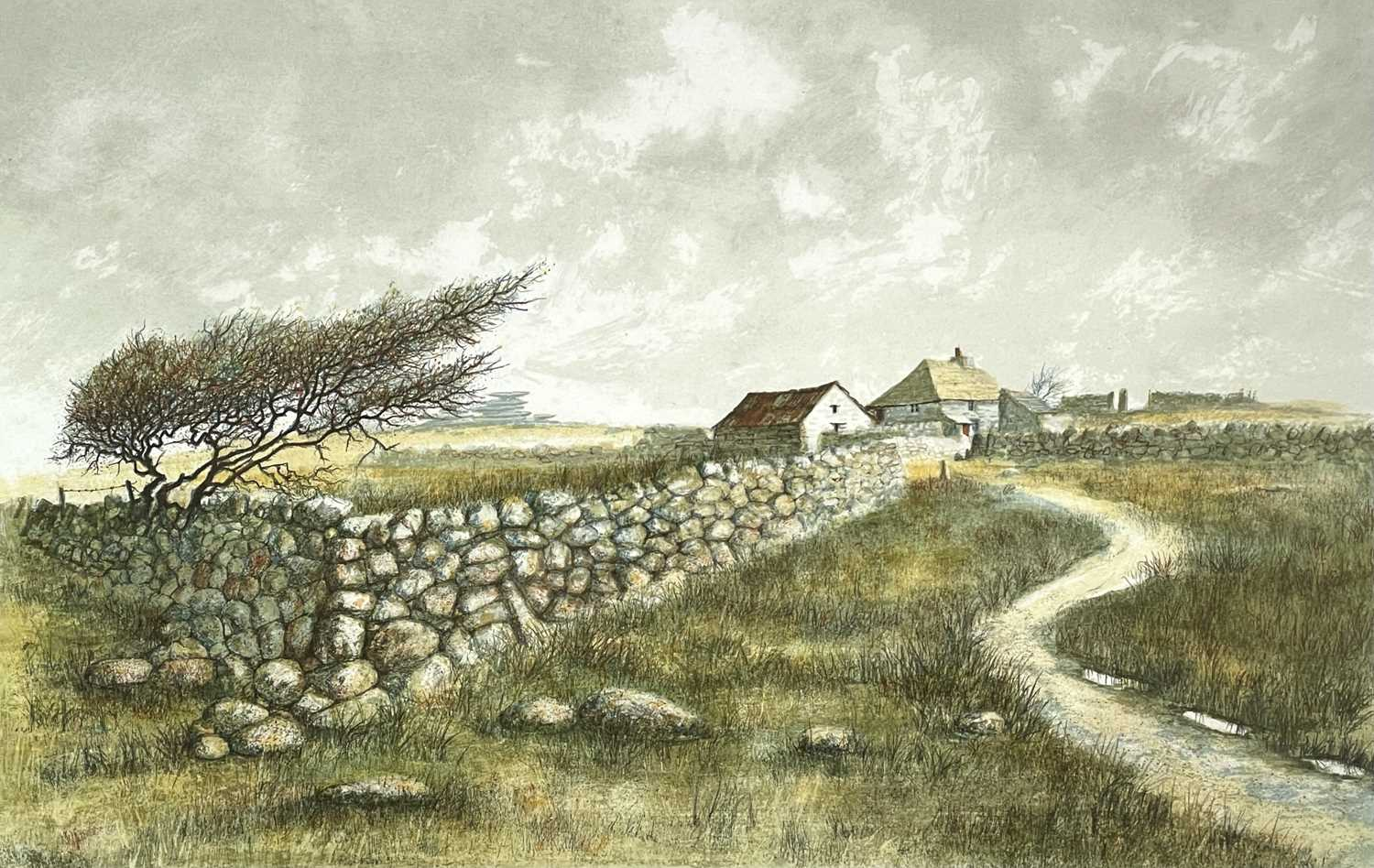 Jeremy KING (1933) Bodmin Moor Lithograph with colours Signed and inscribed, artists proof 24/25