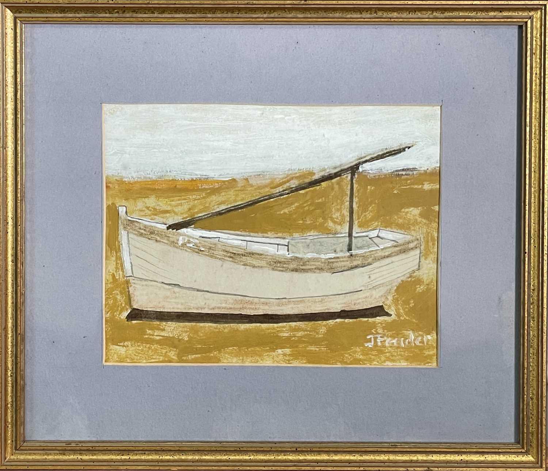 Jack PENDER (1918-1998)Boat AgroundGouache Signed 17 x 21cm - Image 2 of 4