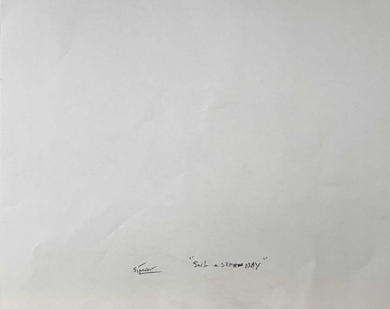 Simeon STAFFORD (1956)Sail and Steam Day Pencil drawing on paper Signed Further signed and inscribed - Image 2 of 3