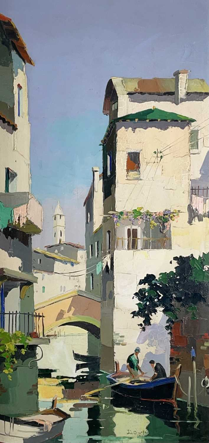 Cecil Rochfort DOYLY-JOHN (1906-1993)Venice Oil on canvas Signed 70 x 34cmCondition report: This oil