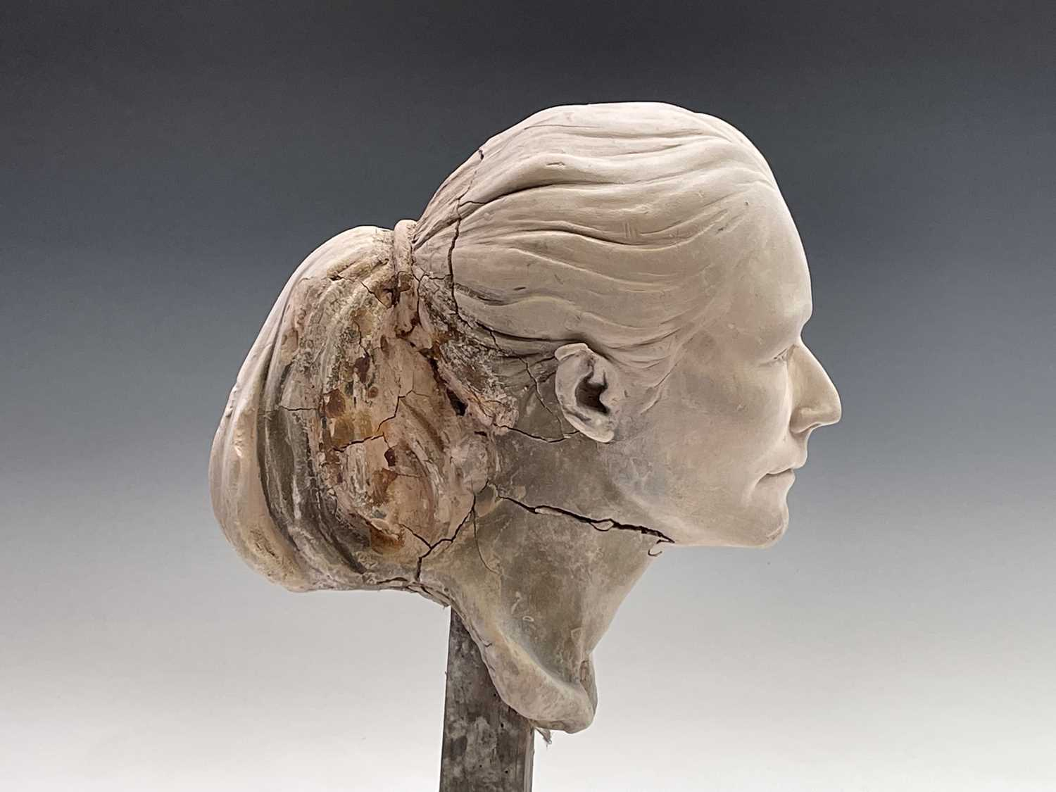 Alec WILES (1924)Female Head Plaster sculpture Height 42cm - Image 6 of 8