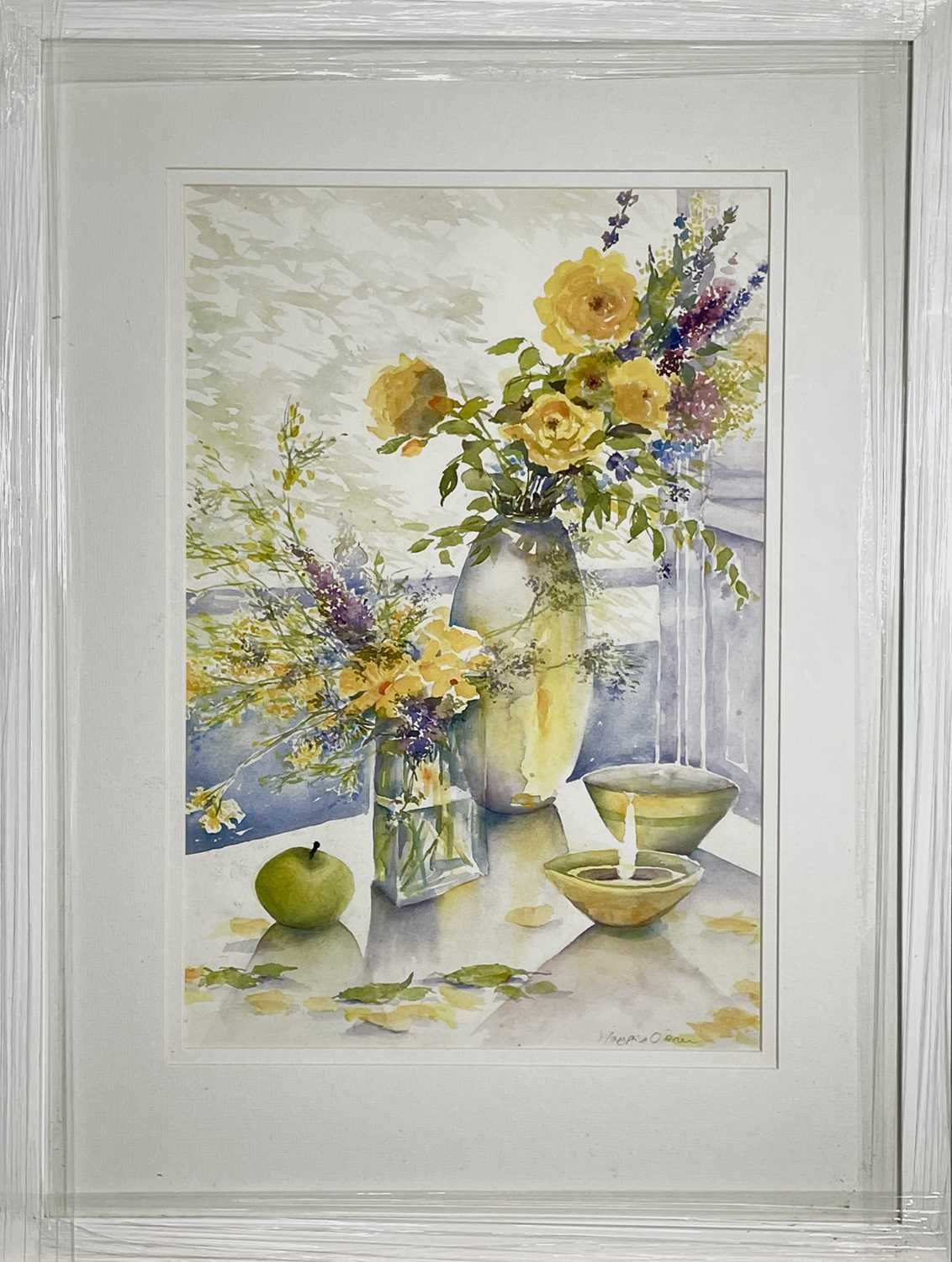 Maggie O'BRIENGolden ShowersWatercolour Signed Further signed, inscribed and dated 2007 to verso53 x - Image 2 of 3