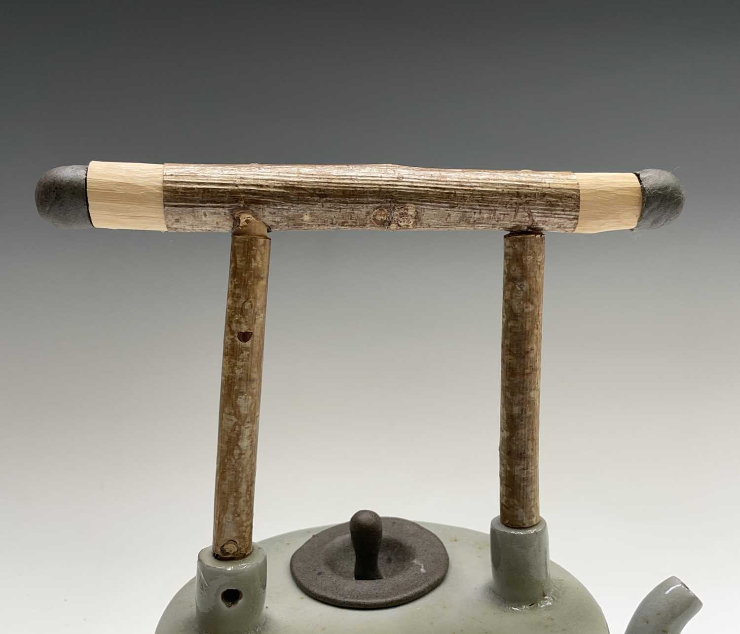 Roger MICHELL (1947-2018)A celadon glazed teapotImpressed makers mark to base, signed in pen and - Image 10 of 15