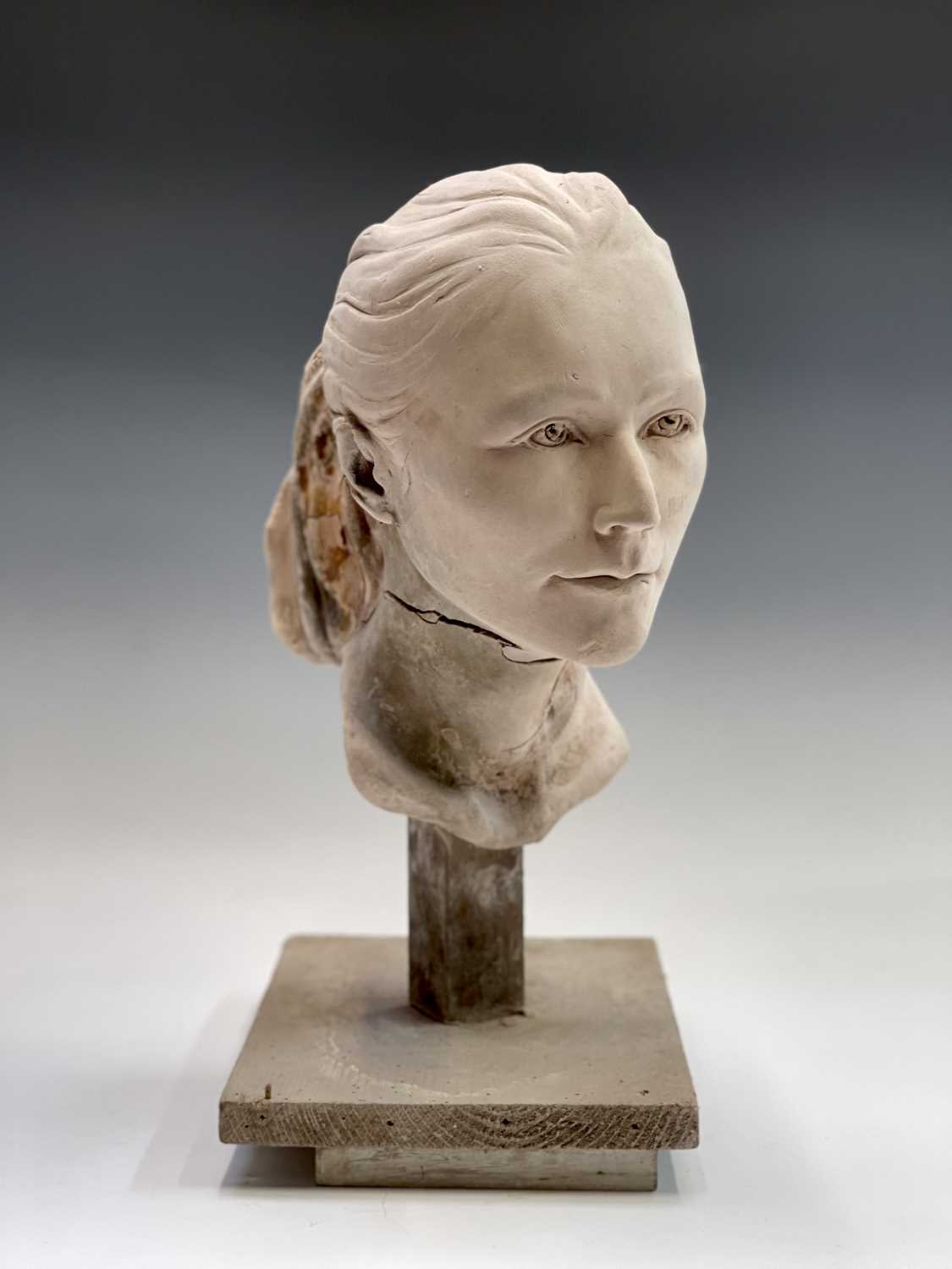 Alec WILES (1924)Female Head Plaster sculpture Height 42cm - Image 2 of 8