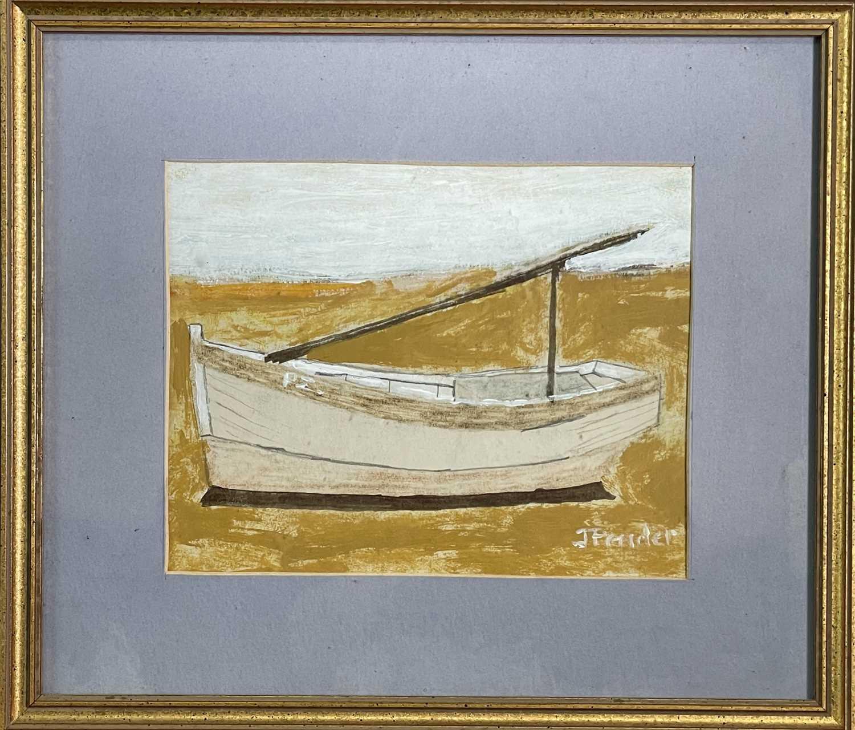 Jack PENDER (1918-1998)Boat AgroundGouache Signed 17 x 21cm - Image 4 of 4