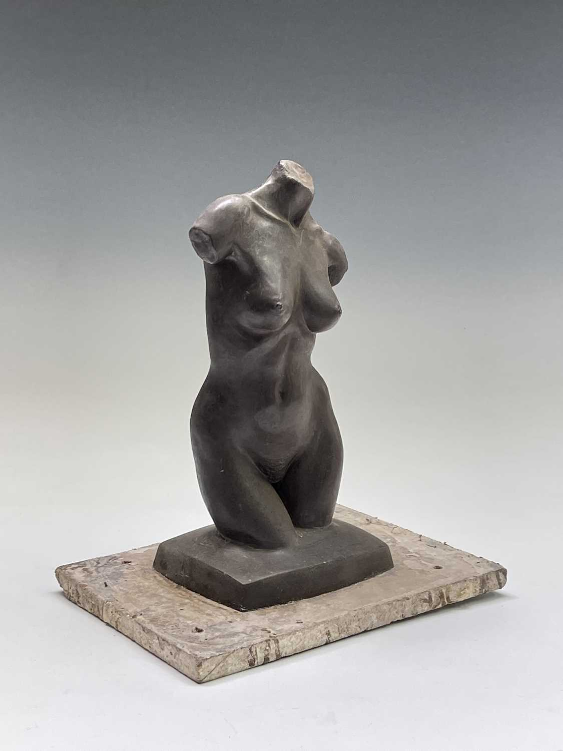 Alec WILES (1924)Female Torso Bronze resin sculpture Signed Height 30cm - Image 5 of 9