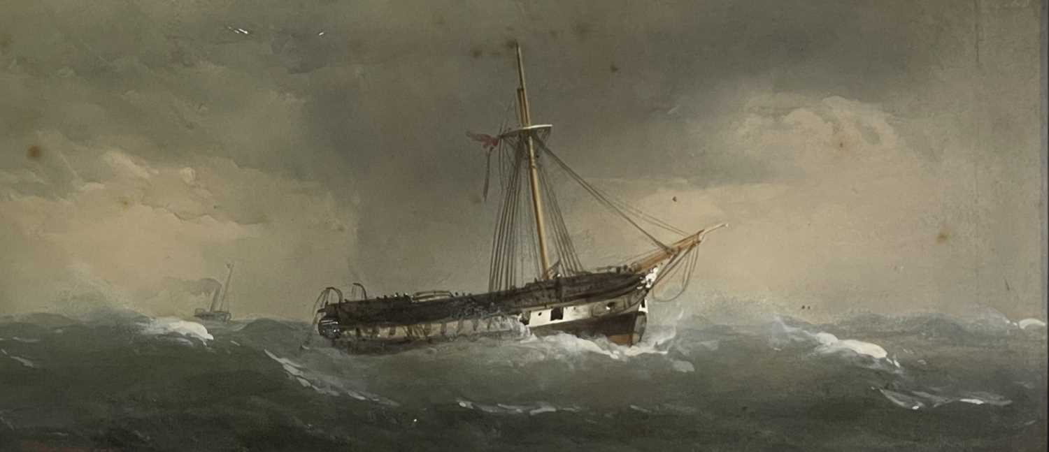Charles TAYLOR (act.1836-1871) A Hulk Adrift Watercolour Signed 21.5x48cm Together with a small - Image 10 of 12
