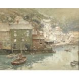 Henry C. JARVIS (1867-1955) Polperro Watercolour Signed 22x28cm