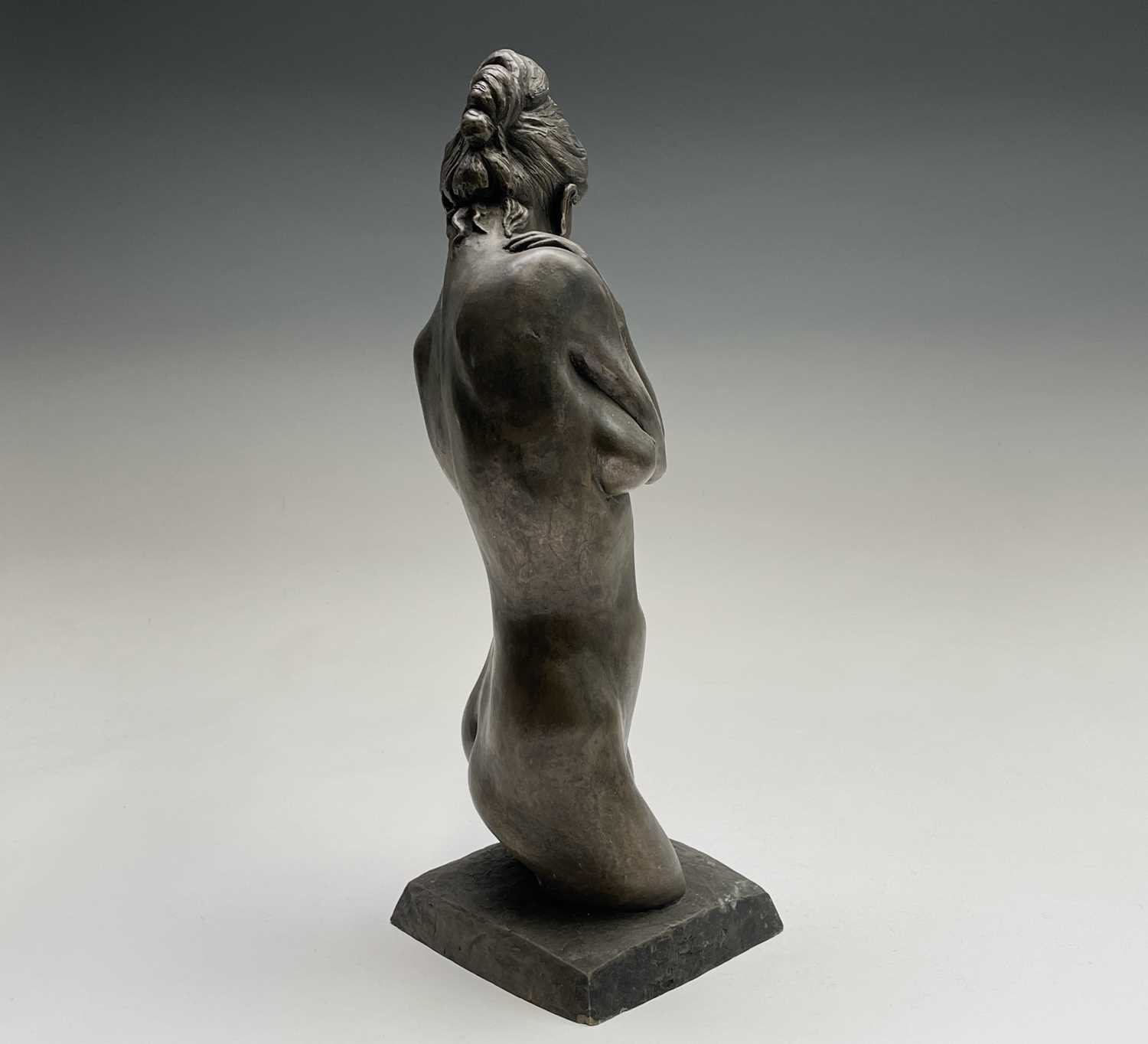 Alec WILES (1924)Female Form Bronzed resin sculpture Signed Height 36.5cm - Image 10 of 11