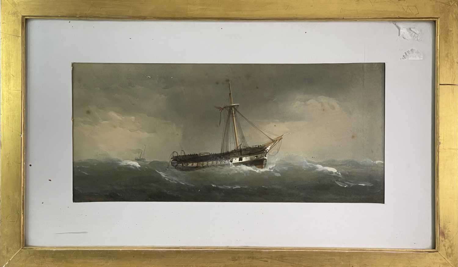 Charles TAYLOR (act.1836-1871) A Hulk Adrift Watercolour Signed 21.5x48cm Together with a small - Image 5 of 12