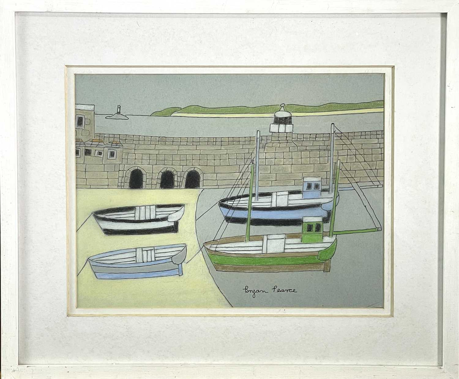 Bryan PEARCE (1929-2006)Four Boats - St Ives Harbour Pastel Signed 24 x 32cmA gift to the vendor - Image 2 of 3