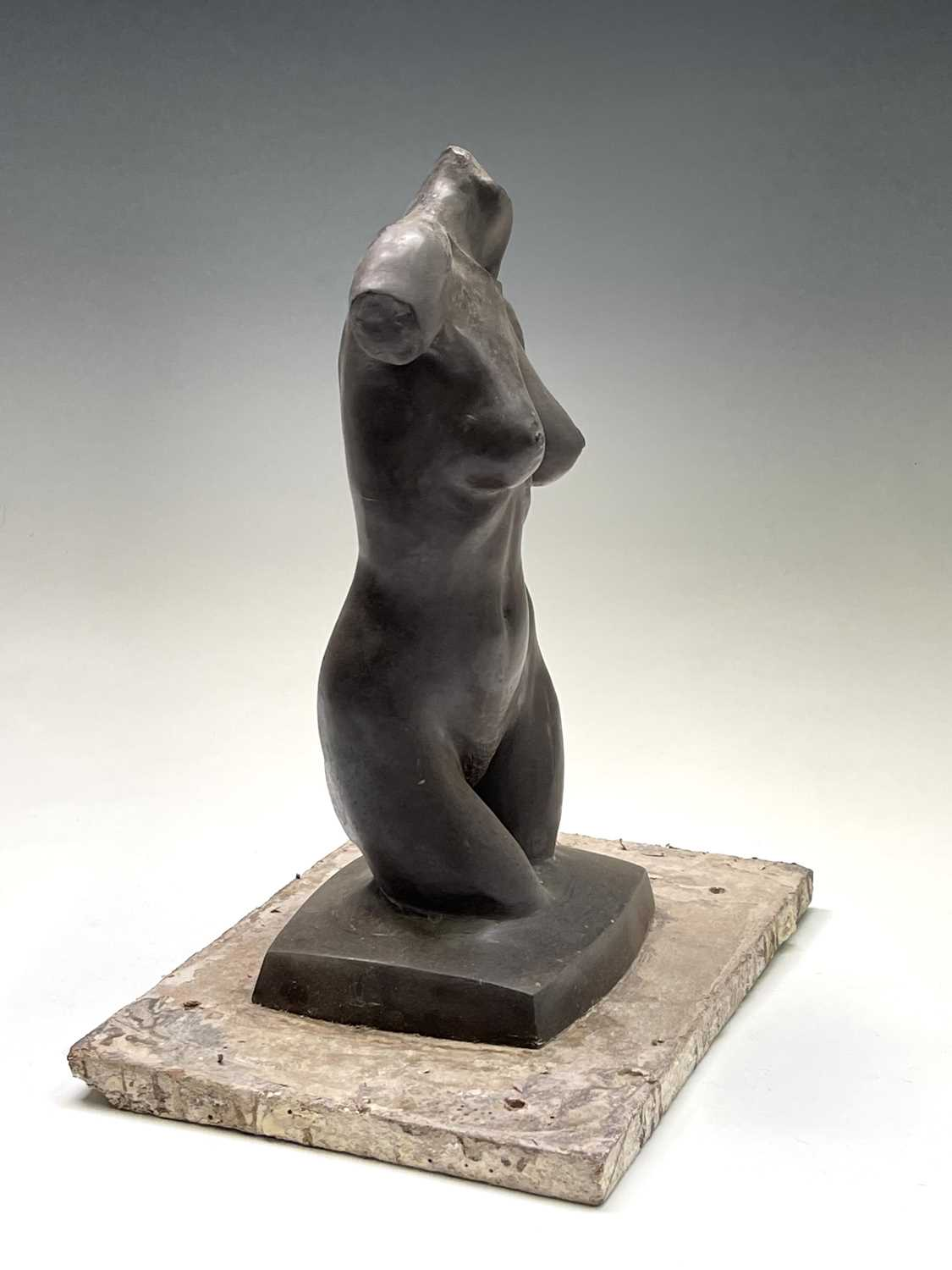 Alec WILES (1924)Female Torso Bronze resin sculpture Signed Height 30cm - Image 4 of 9