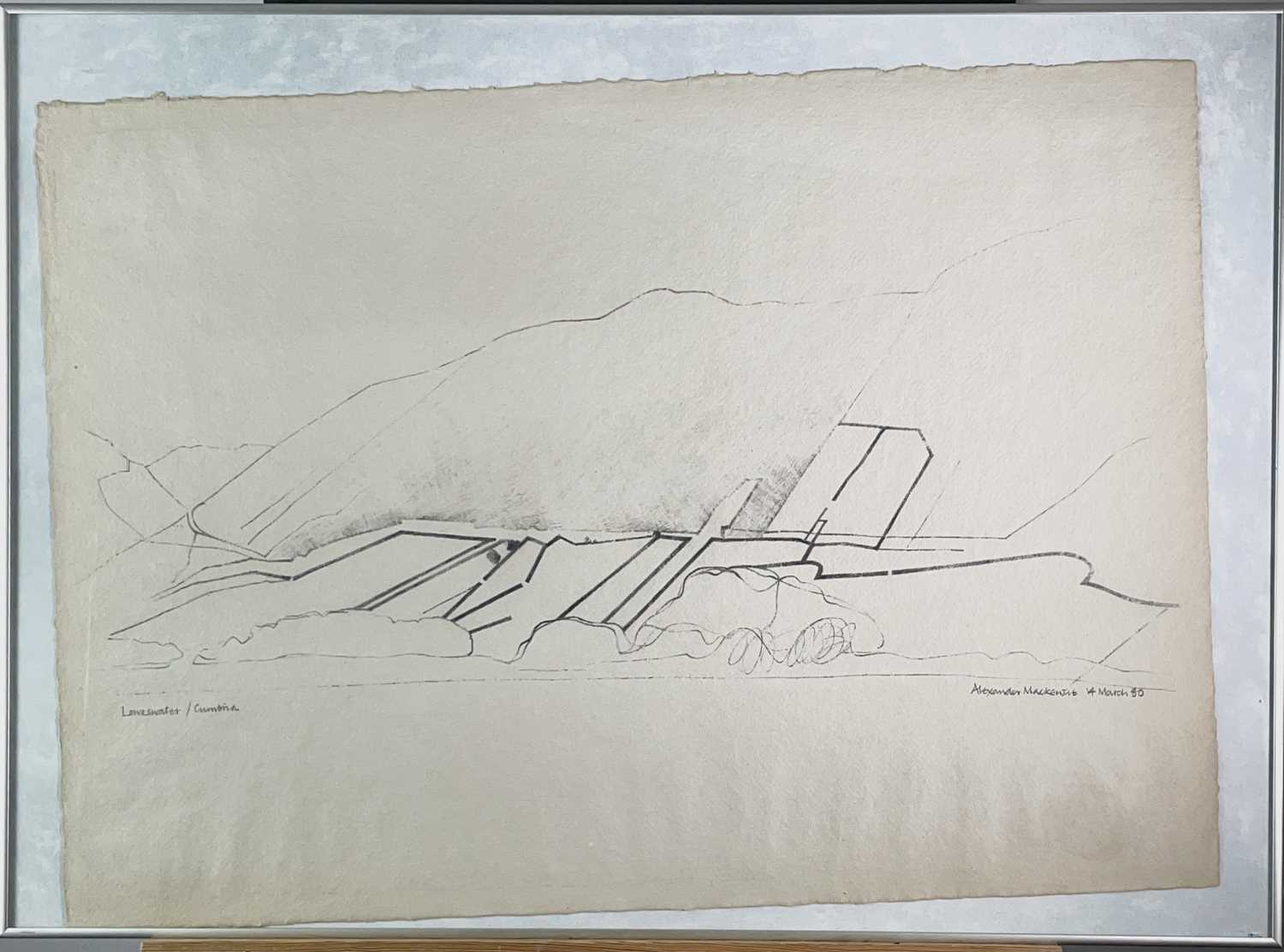 Alexander MACKENZIE (1923-2002) Loweswater, Cumbria Pencil drawing Signed, inscribed and dated 14 - Image 3 of 3