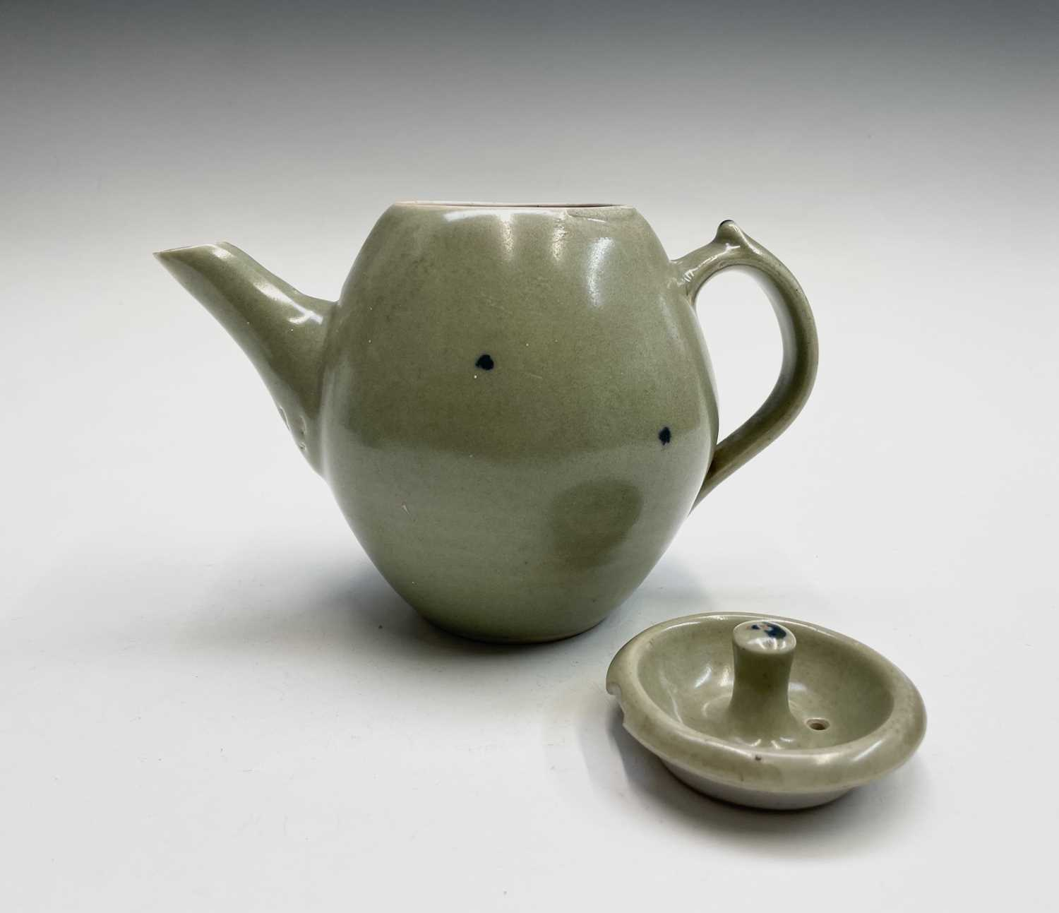 A Leach Pottery, St Ives, celadon glazed teapot, height 14cm, with impressed Leach seal and initials - Image 9 of 11