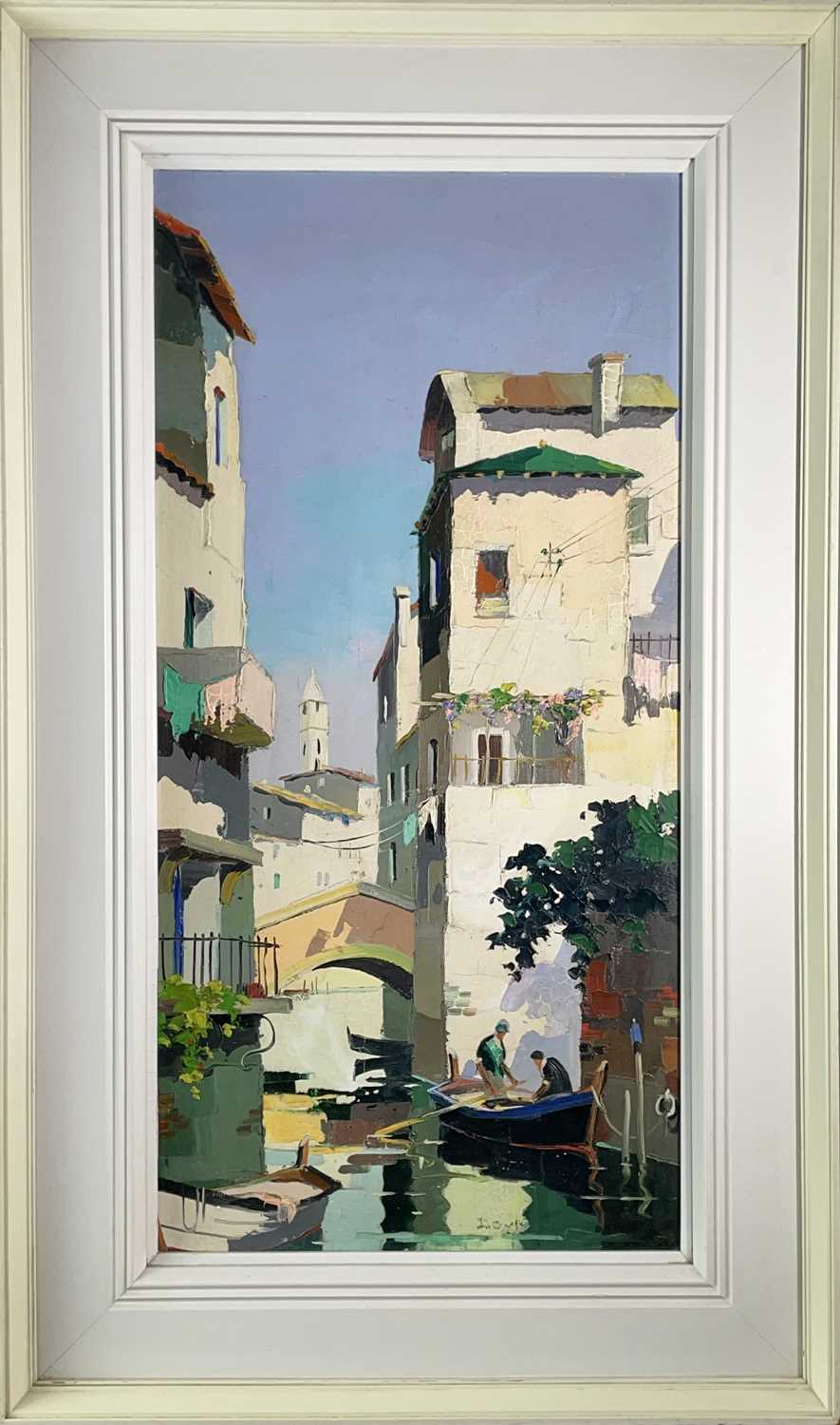Cecil Rochfort DOYLY-JOHN (1906-1993)Venice Oil on canvas Signed 70 x 34cmCondition report: This oil - Image 3 of 8