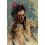 Eric WARD(1945) Nude Oil sketch 19x13cmCondition report: This little unframed work is an oil on