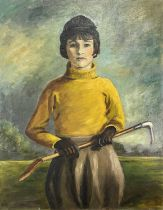 Garlick BARNES (1891-1987)Girl with a Riding CropOil on canvas Signed 91 x 71cm Garlick Barnes