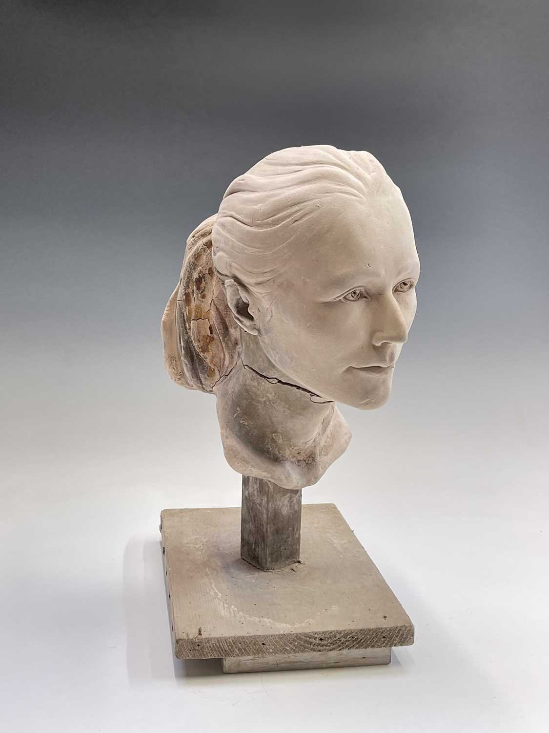 Alec WILES (1924)Female Head Plaster sculpture Height 42cm - Image 3 of 8