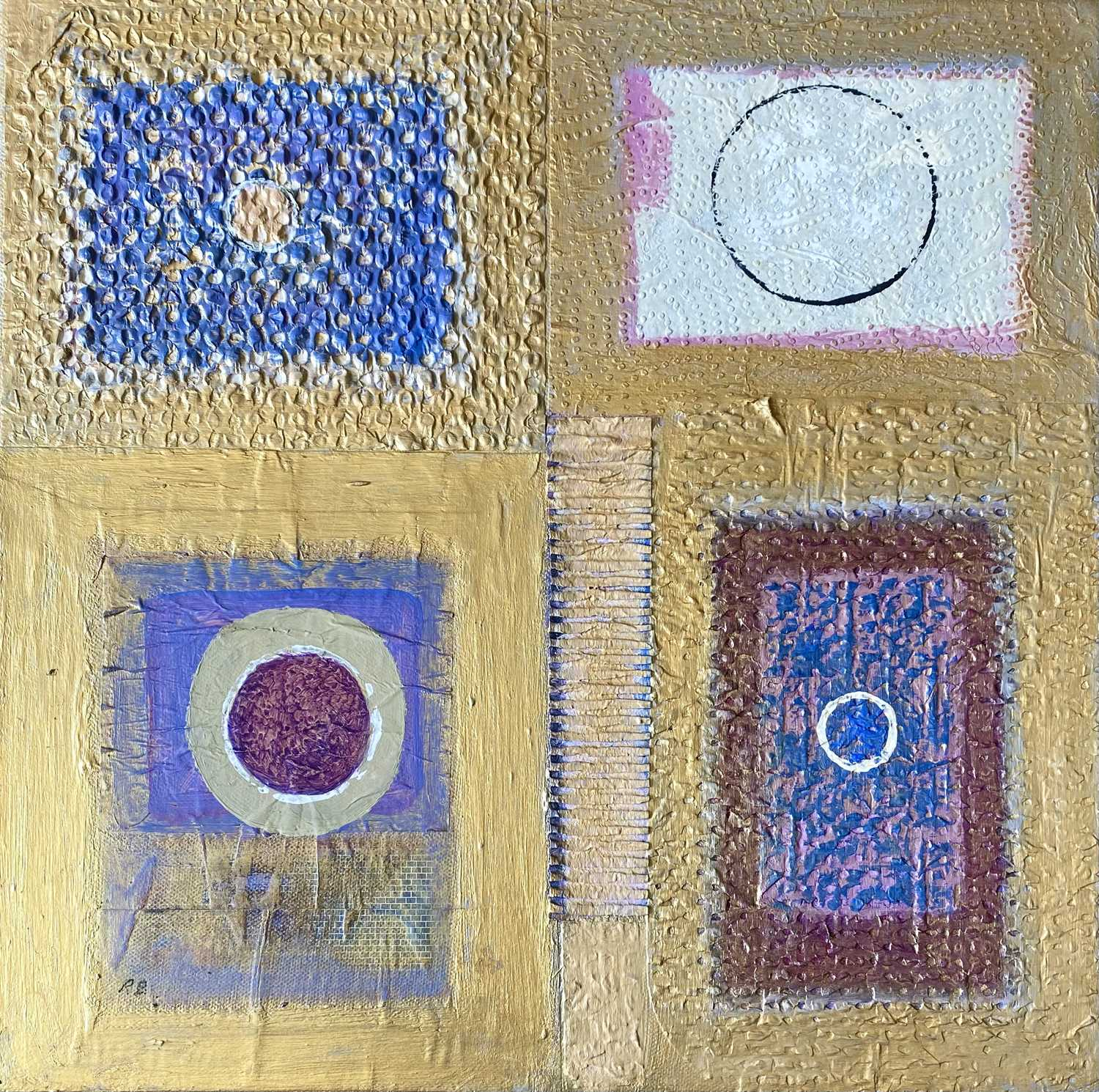 Ray BARRY (1931)Textured Panels Mixed media on canvasInitialled Artists label to verso 40 x - Image 2 of 3