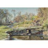 Attributed to Samuel John LAMORNA-BIRCH (1869-1955)The Orchard Pool, Near LauncestonWatercolour 24 x