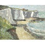 Garlick BARNES (1891-1987)White CliffsOil on boardSigned 30 x 39cm Garlick Barnes 1891-1987