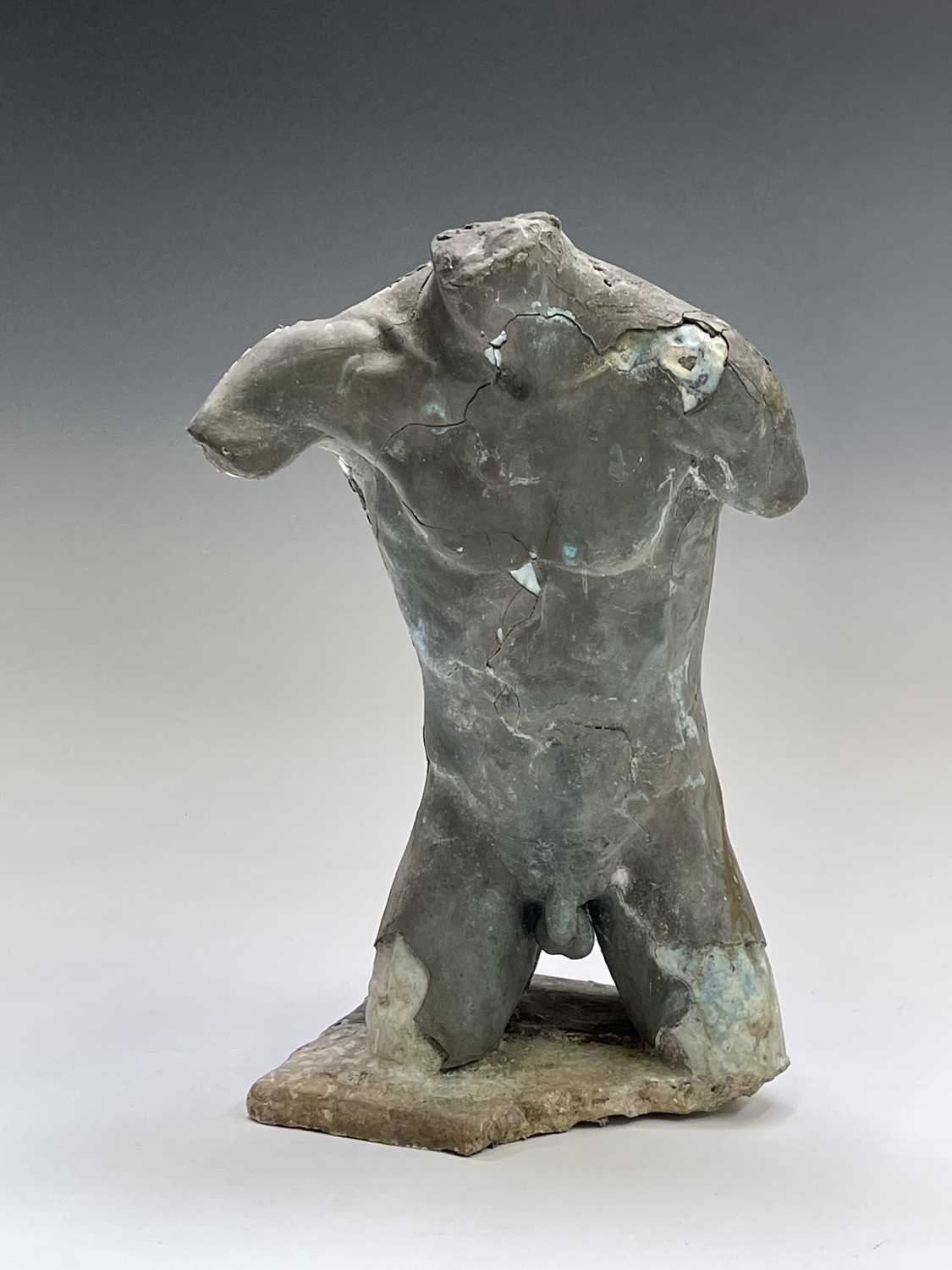 Alec WILES (1924)Males Torso Plaster and resin sculpture Signed Height 31cm - Image 12 of 13