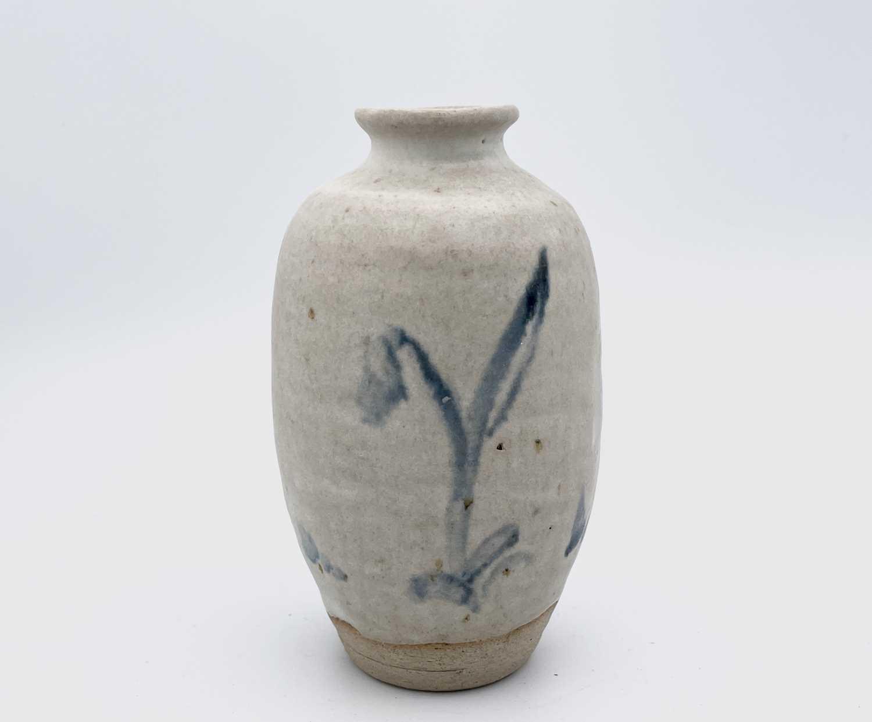 Katharine PLEYDELL-BOUVERIE (1895-1985) An ovoid bottle vase, blue brushwork decorated with - Image 6 of 7