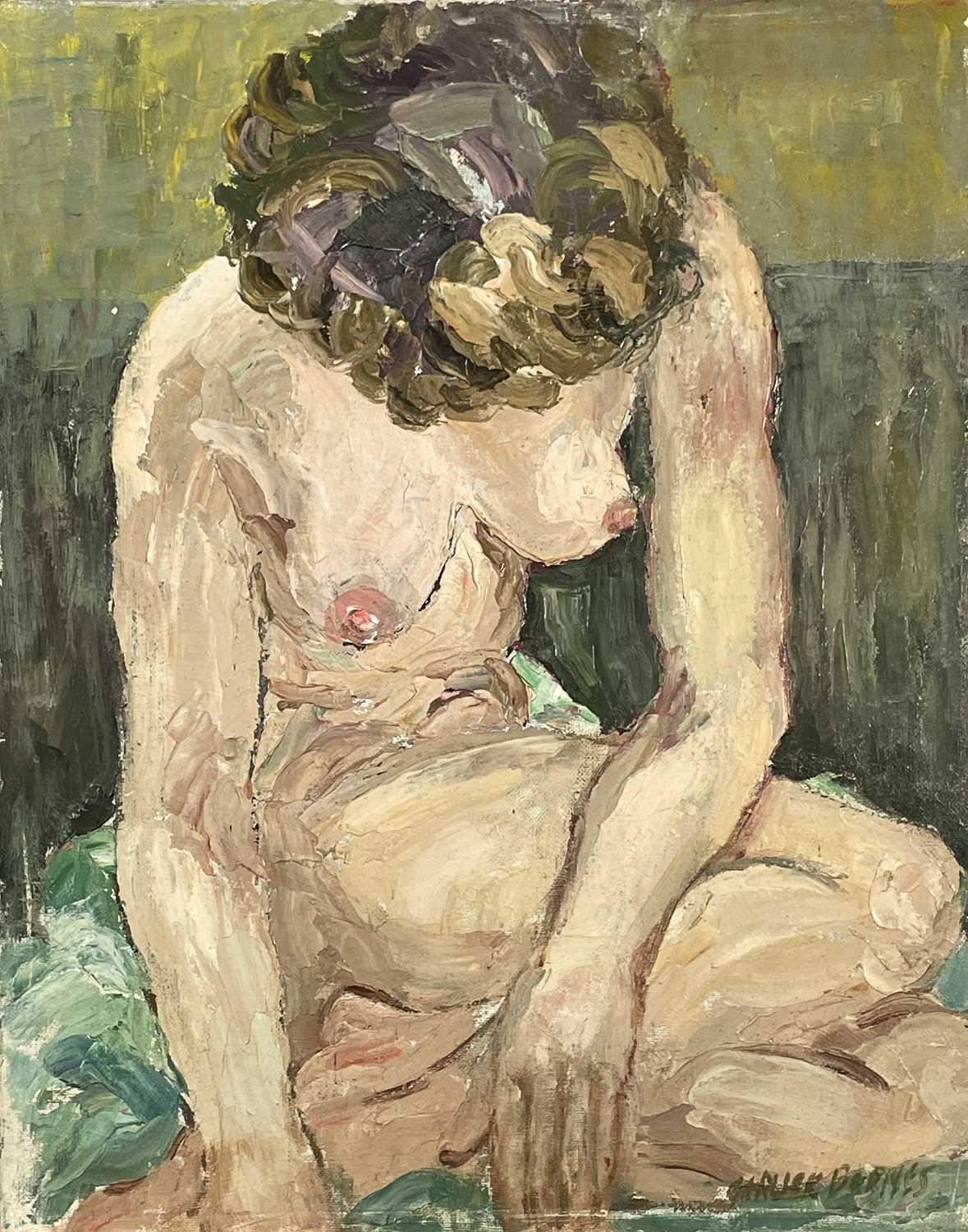 Garlick BARNES (1891-1987)Seated NudeOil on canvas Signed 51 x 41cm Garlick Barnes 1891-1987 Garlick