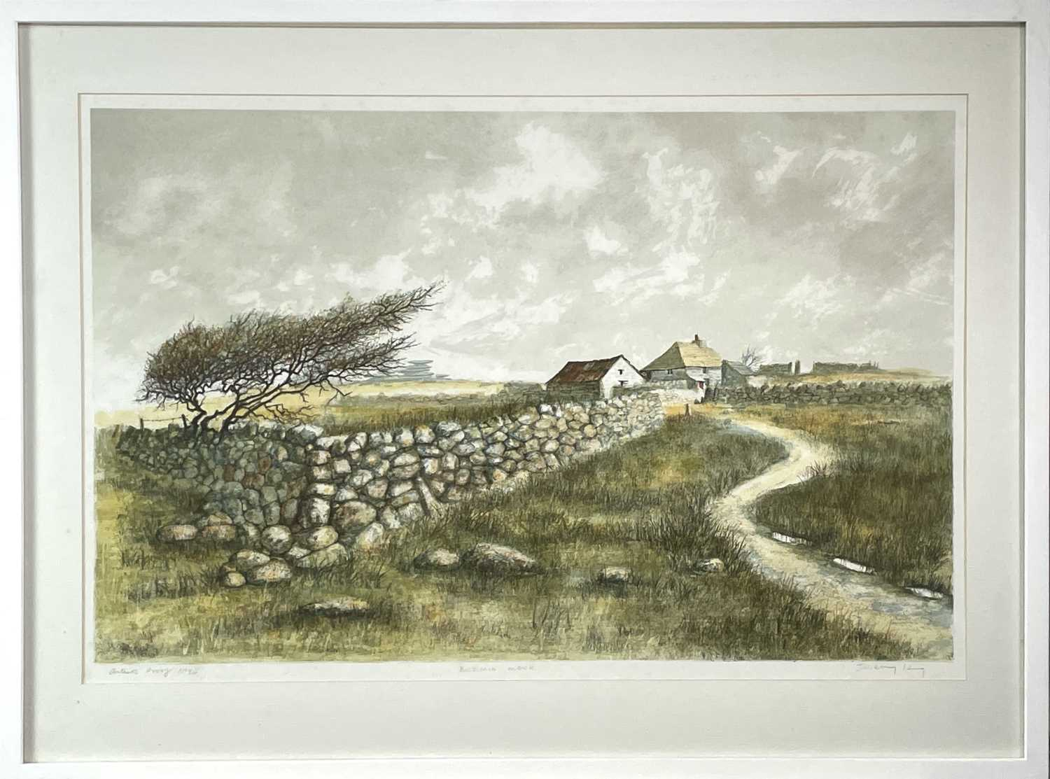 Jeremy KING (1933) Bodmin Moor Lithograph with colours Signed and inscribed, artists proof 24/25 - Image 3 of 3